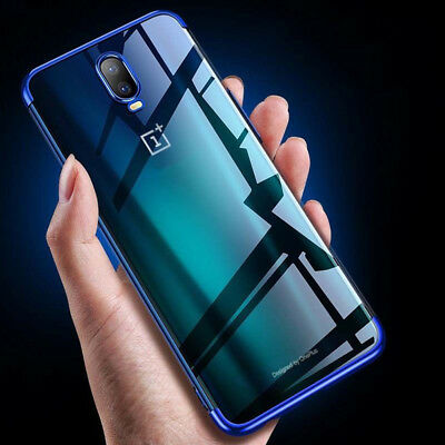 For OnePlus 6T Shockproof Plating Phone Case 360 Hybrid Cover & Screen Protector