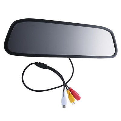 """1X(Car Rear View 4.3"""" TFT Color LCD Mirror Monitor F Car Reversing Rearview C4X5"""