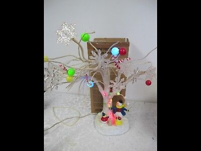 2006 AVON HOLIDAY FIBER OPTIC TREE SNOWMAN TREE New In BOX