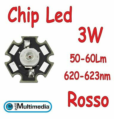 10 LED ROSSI SMD5050 SMD 5050 5060 PLCC6 TRIPLO-CHIP ROSSO RED