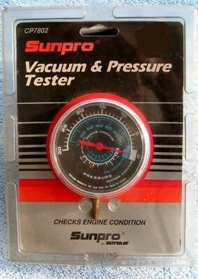Sunpro Engine Vacuum and Pressure Tester Gauge New Sealed CP7802