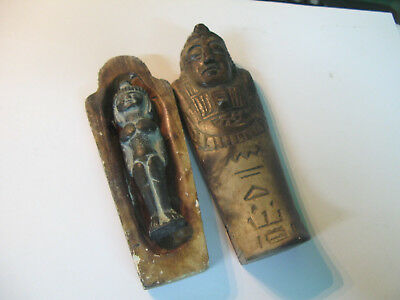 S 300g Very Antique MINIATURE Egyptian Tomb with Queen s Body