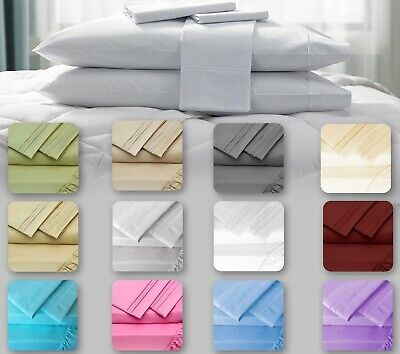 Egyptian Luxury Comfort 1800 Count 4 Piece Bed Sheet Set Deep Pocket Sheets