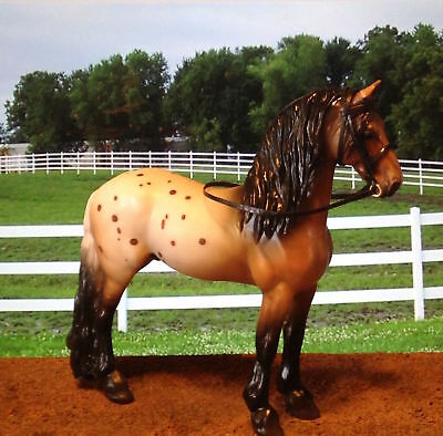 Black Leather English Show bridle~ Breyer's Django Stablemate scale