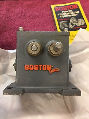 ! Rare Antique Boston Gear Double Worm Gear Speed Reducer 900:1 Ratio  1940-Ish