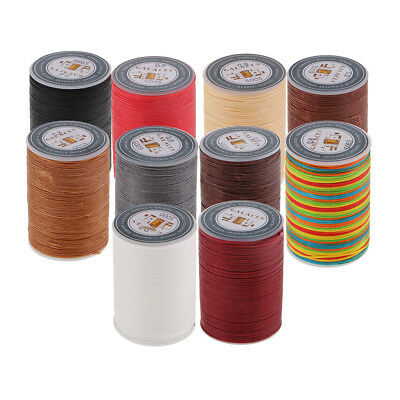 0.8mm Flat Strong Sewing Thread Waxed String for Jeans Hand Stitching Crafts