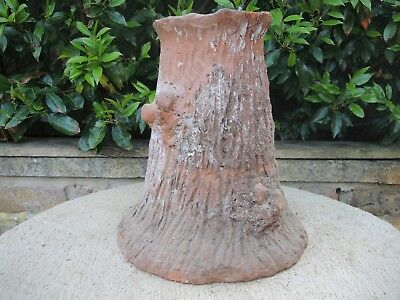 Antique Faux Bois Terracotta Simulated Tree Trunk Planter 34 cm High   (1168)