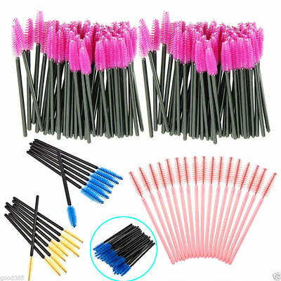 100X Disposable Eyelash Eye Lash Makeup Brush Mascara Wands Applicator Cosmetic