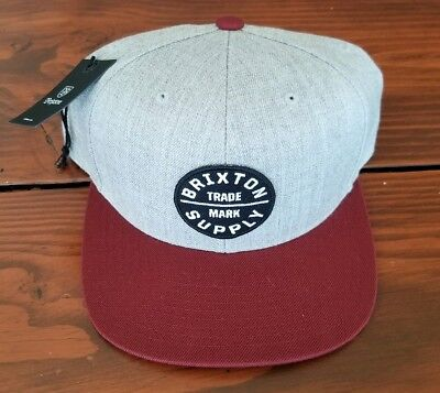 3c521b173439c BRIXTON OATH III Snapback Hat Heather Grey New With Tags -  9.99 ...
