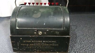 Vintage/Antique 1921 Star Adding Machine Todd Protectograph Co.