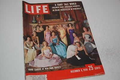 Vintage December 8, 1958 Life Magazine - Young NY Society Leaders on Cover