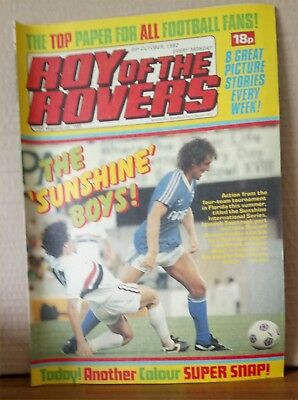 Roy of the Rovers Comic in very good condition dated 9th October 1982