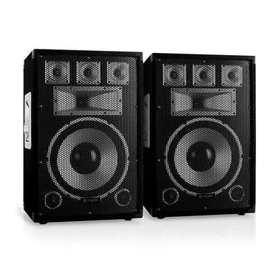 "Paar Dj Pa Lautsprecher 12"" (30Cm) Subwoofer Studio Party Box 100W Rms Sound"