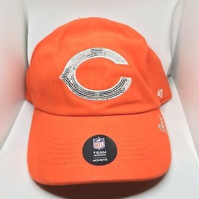 NWT  47 Brand NFL Womens Chicago Bears Sparkle Clean Up Hat Cap Bling Sequin e8ab33070