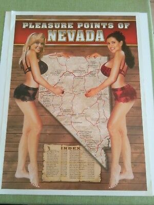 Nevada Pleasure Points Legal Brothel Whore House Poster 18X24