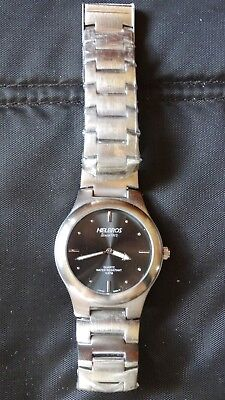 Helbros Signature Mens Watch Water Resistant- Band still has plastic on it