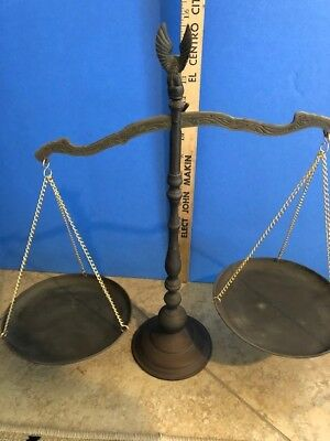 Antique vintage Henry Troemner balance scale with weights. Gold, apothecary?