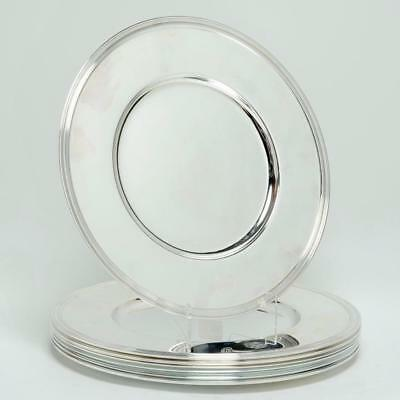Set Of 10 Christofle Albi Chargers For Petrossian