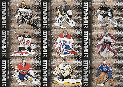 U PICK EM LOT 2018-19 18-19 Upper Deck UD Series 1 Stonewalled Insert card set