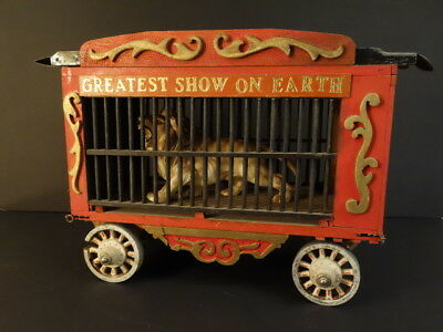 Large Wooden Greatest Show On Earth Circus Cage #26 Folk Art Model Toy 1940