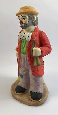 """Emmett Kelly Jr. Collection Ceramic Figurine by Flambro – 5 ¾"""""""