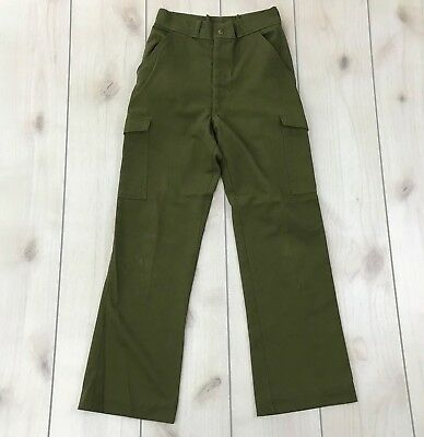 BSA Boy Scouts Green Pants Uniform 26W 29L