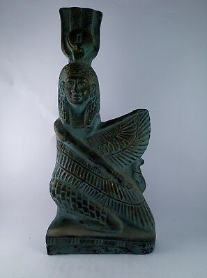 ANCIENT EGYPTIAN ANTIQUE EGYPT Statue of Goddess Winged Isis stone 380-362 Bc