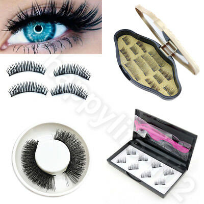 Magnetic Eyelashes 3D Handmade Reusable False No-glue Magnet Natural Eye Lashes