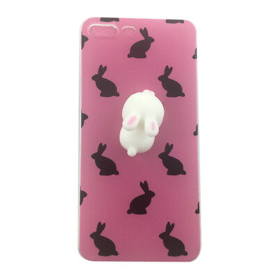 Rabbit with Pink Backgroud for iPhone6Plus/6SPlusCase Cute 3D  D6F5