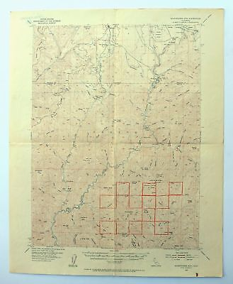 Shoeinhorse Mountain California Vintage USGS Topo Map 1954 McCloud Topographical