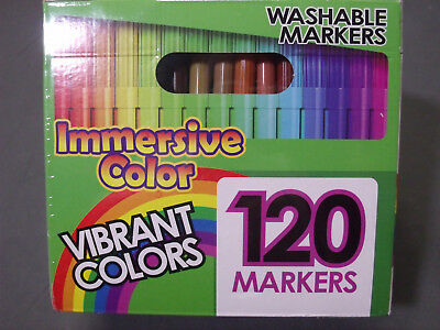Immersive Color Washable Water Soluble Ink Markers Set of 120