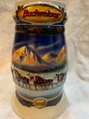 2000 Budweiser Holiday Beer Stein- Holiday in the Mountains  (CS416)  (BS #4)