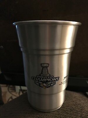 Coors Light Aluminum Tumblers Glasses set/4 Pittsburgh Penguins Stanley Cup 2017