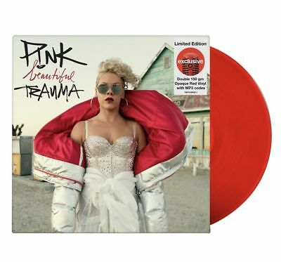 P!NK - Beautiful Trauma 2 LP RED VINYL  target exclusive limited Rare Pink + mp3