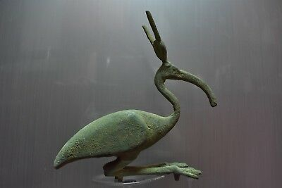 ANCIENT EGYPT ANTIQUE Egyptian bronze statue THOTH as Bird IBIS (1500-300 BC