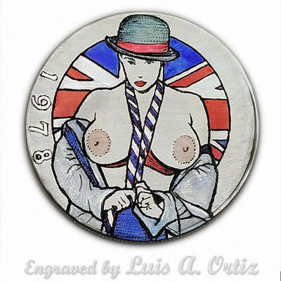 Totally Brit S1913 Ike Hobo Nickel Pinup Colored & Engraved by Luis A Ortiz