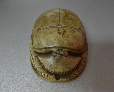 ANCIENT ANTIQUE Egyptian EGYPTIAN large stone scarab E (300-1500 BC