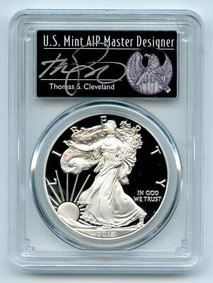 2018 S $1 Proof American Silver Eagle 1oz PCGS PR70DCAM Thomas Cleveland Freedom