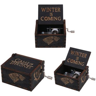 Game of Thrones Music Box Engraved Wooden Music Box Kids Vintage Toys Gifts US