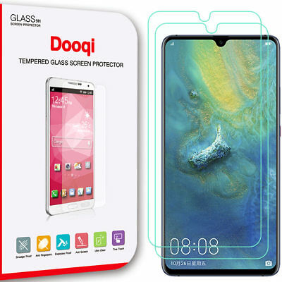 2X Dooqi Premium Ultra Clear Tempered Glass Screen Protector For Huawei mate 20X