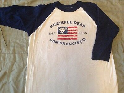 Grateful Dead 3/4 sleeve T-Shirt Jerry Garcia Bob Weir Phil Lesh 1999 GDP