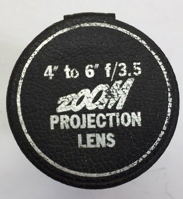 """ZOOM Projection Lens 4"""" to 6"""" f/3.5 in Original Case"""