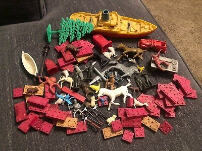 Vintage Toy Lot American Bricks Plastic Vintage Soldiers And More Barn Finds