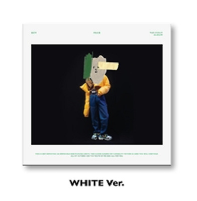 Shinee Key-[Face]1st Solo Album White CD+Poster+Booklet+Gift+Tracking