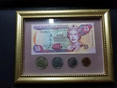 Bermuda Currency and Coin Framed Art!!***Great Gift!!!***