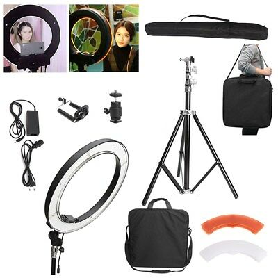 14'' 40W 5500K 180pcs LED Dimmable Adjustable Ring Light+ Diffuser Light Stand