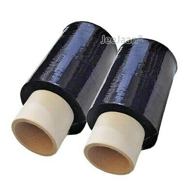 2 ROLLS BLACK STRONG MINI HANDY PALLET STRETCH SHRINK WRAP FILM 100mm x 150M