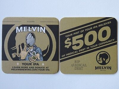 Beer Collectible Coaster: MELVIN Brewing Co Your IPA ~ WYOMING & WASHINGTON