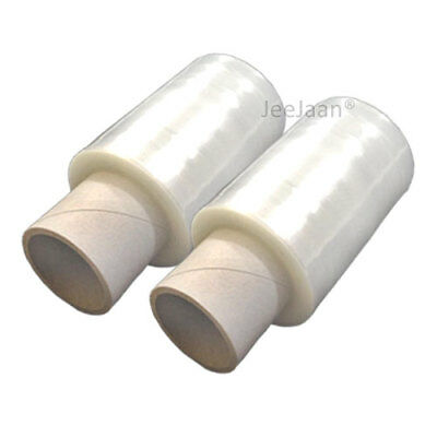 2 ROLLS CLEAR STRONG MINI HANDY PALLET STRETCH SHRINK WRAP FILM 100mm x 150M