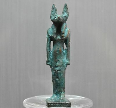 ANCIENT EGYPT ANTIQUE Egyptian bronze ANUBIS B 300-1500 BC